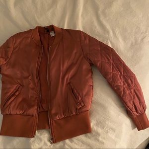H&M Rose gold Bomber